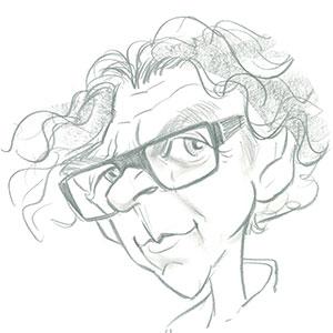 Caricature Éric Merceur par Ⓒ Jean-Marc Borot en 2010